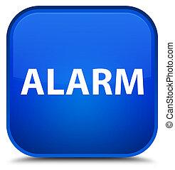 Alarm special blue square button