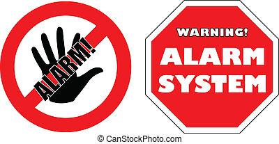 """""""alarm, system"""", tekens & borden"""