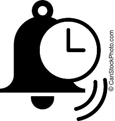 alarm vector icon. Illustration isolated for graphic and web design