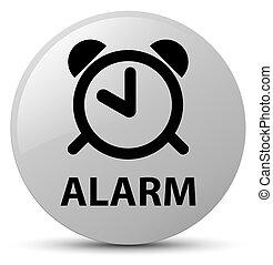 Alarm white round button