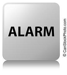 Alarm white square button