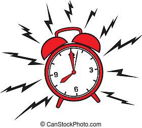 alarma, clásico, reloj