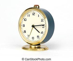 alarma, retro, reloj