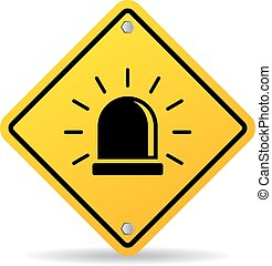 alarma, señal de peligro