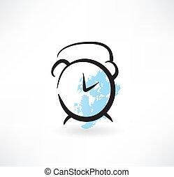 alarmclock grunge icon