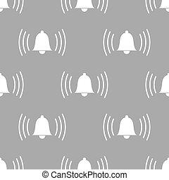 Alarmclock seamless pattern - Alarmclock white and black...