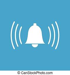 Alarmclock white icon - Alarmclock web white icon isolated...