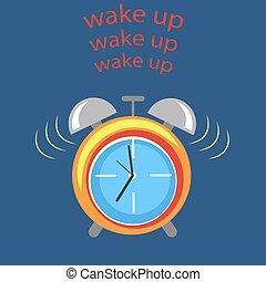 alarme, acorde-se, relógio