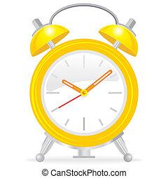 alarme, amarela, relógio