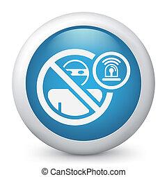 alarme, conceito, ladrão, ícone