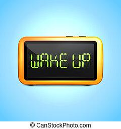 alarme, digital, acorde-se, relógio