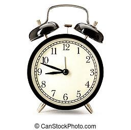 alarme, fashioned velho, relógio