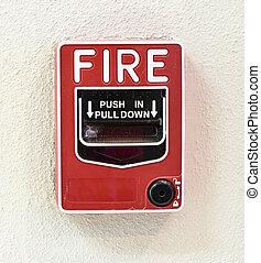 alarme fogo, interruptor