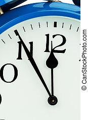 alarme, fundo branco, relógio
