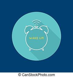 alarme, fundo, clock.