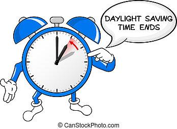 alarme, padrão, tempo, mudança, relógio