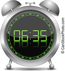 alarme, relógio digital