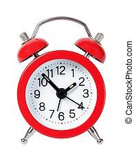 alarme, vermelho, relógio
