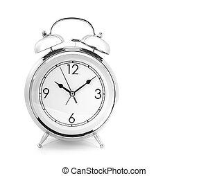 alarme, windup, tipo, relógio