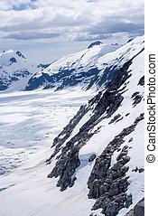 Alaska, aerial view of mountain