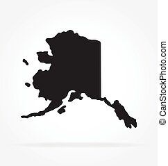 alaska ak state shape simplified vector