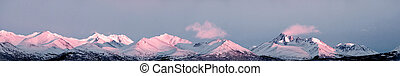 alaska, de piek van de berg, panorama