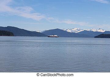 Alaska Ferry Island Landscape