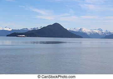 Alaska Ferry Summer Landscape