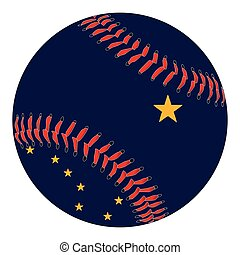 Alaska Flag Baseball