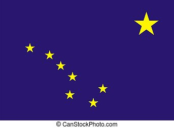 Very large 2d illustration of Alaska flag