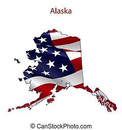 Alaska full of American flag