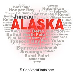 Alaska Heart - A cartoon heart shape with the text ALASKA ...