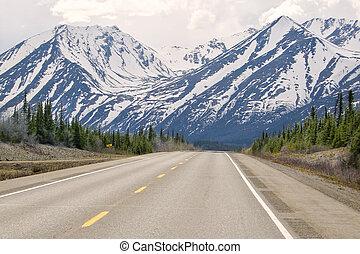 Alaska Highway - Denali Highway near Anchorage Alaska