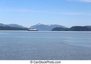Alaska Landscape with Ferry
