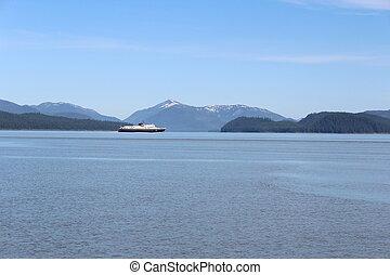 Alaska Landscape with Ferry