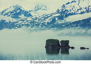 Alaska landscapes - Mountain meadow in Alaska USA
