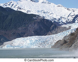 alaska, mendenhall, juneau, gletscher