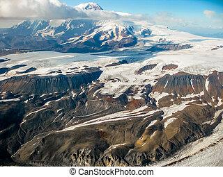 Alaska mountain glacier