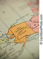 Alaska on Vintage Map