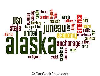 alaska, palabra, nube