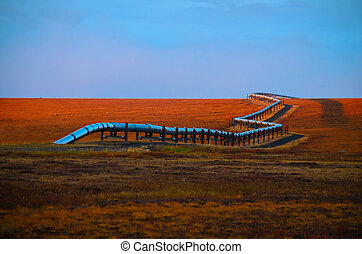 alaska, pipeline, huile