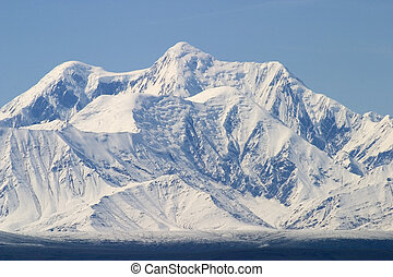 Alaska Range - A view of the Alaska range from the north in...