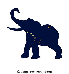 Alaska Republican Elephant Flag