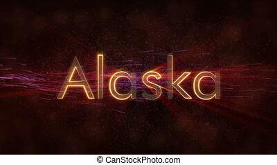 Alaska - Shiny looping state name text animation - Alaska -...