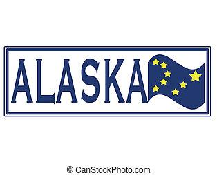 alaska stamp - alaska grunge stamp with on vector...