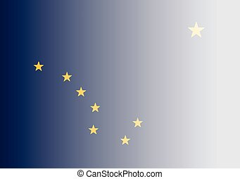 Alaska State Flag Fade Background