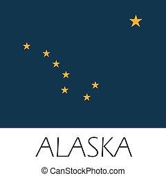 Alaska State Flag flat style
