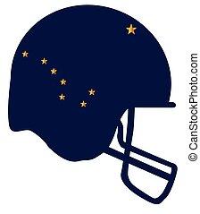 Alaska State Flag Football Helmet