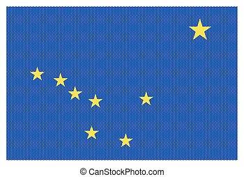 Alaska State Flag White Dots