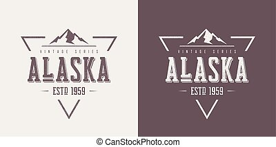 Alaska state textured vintage vector t-shirt and apparel ...
